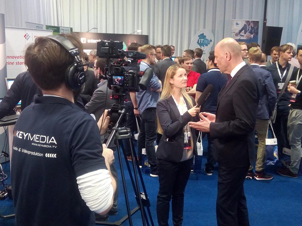 Wolfgang Tiefensee im Interview mit Keymedia während der 2. Thüringer IT-Leistungsschau